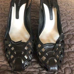 Black Slingback heel